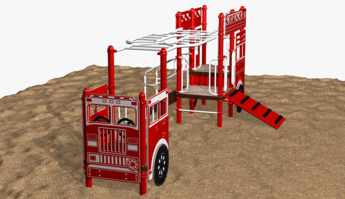 Fire Ladder Truck Play System for Kids 5-12