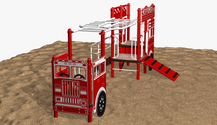 Fire Ladder Truck (5-12)  #7301