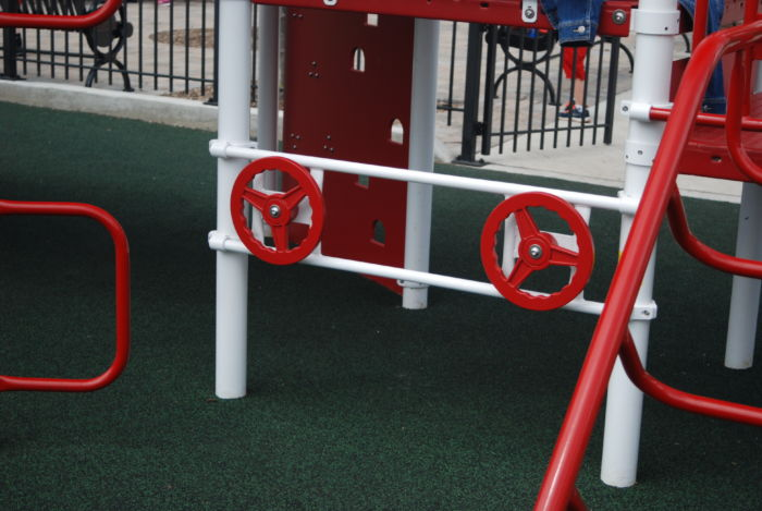 Playground Guardrail w/ 2 Steering Wheels