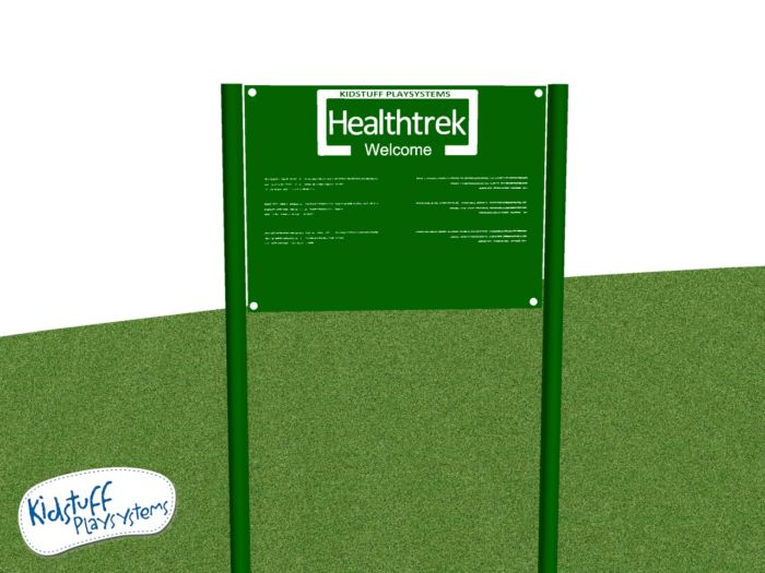 HealthTrek Outdoor Fitness Welcome Sign #HTK10