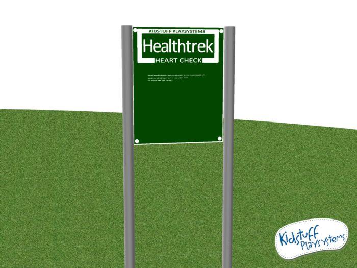 HealthTrek Playground Heart Check Sign #HTK24