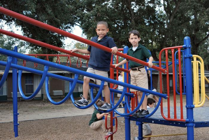 Inclined Playground Loop Bridge