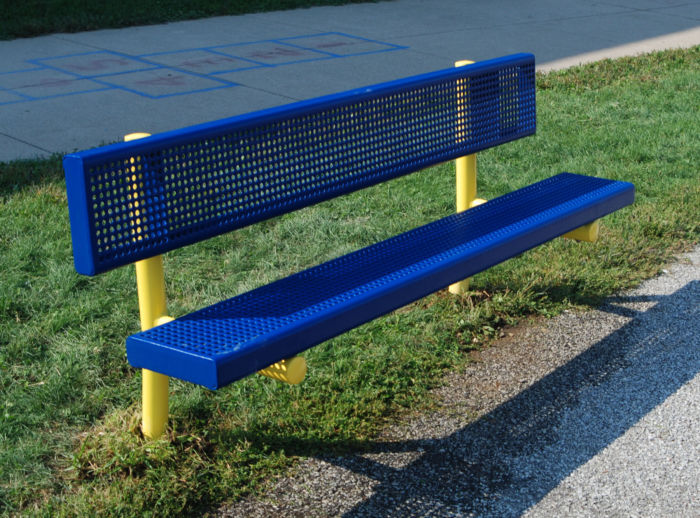 8ft Bench with Back  #52008