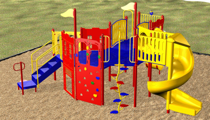 Our castle playground includes 13 play events!