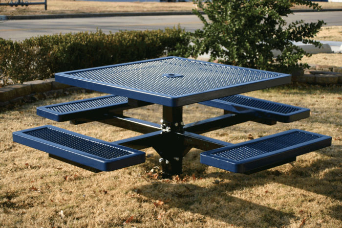 Pedestal-style 4ft Picnic Table, in-ground mount #9212