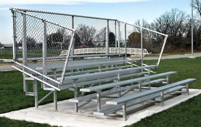 5-Row Outdoor Sports Bleachers