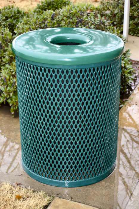 Flat-Topped Playground Trash Receptacle for Sale