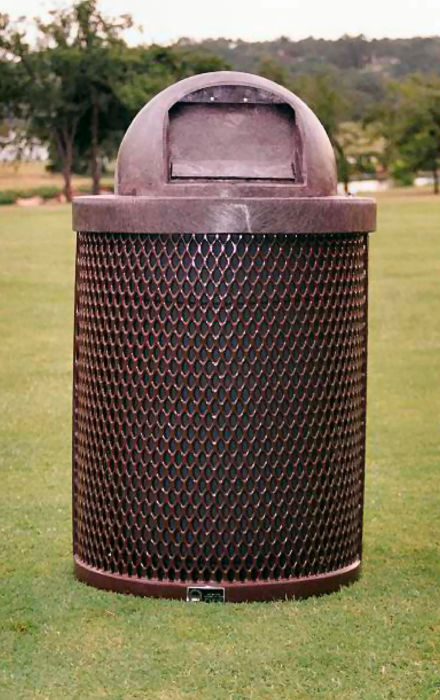 Dome-Topped Trash Receptacle  #9605