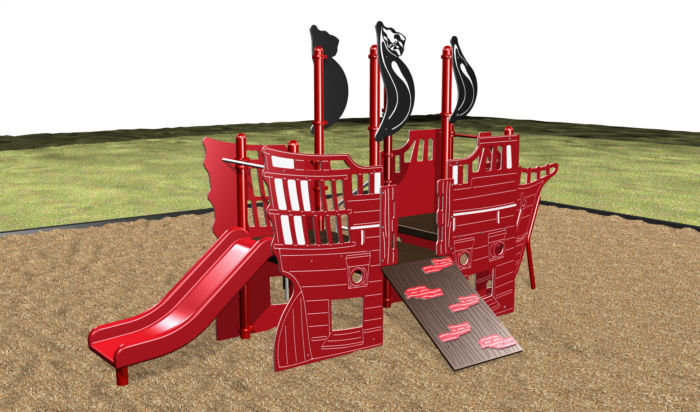 Pirate Ship Playsystem For Kids by Kidstuff Playsystems