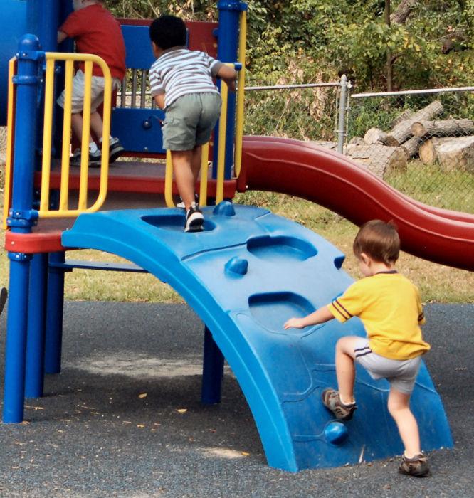 Angled Playground Rock Wall