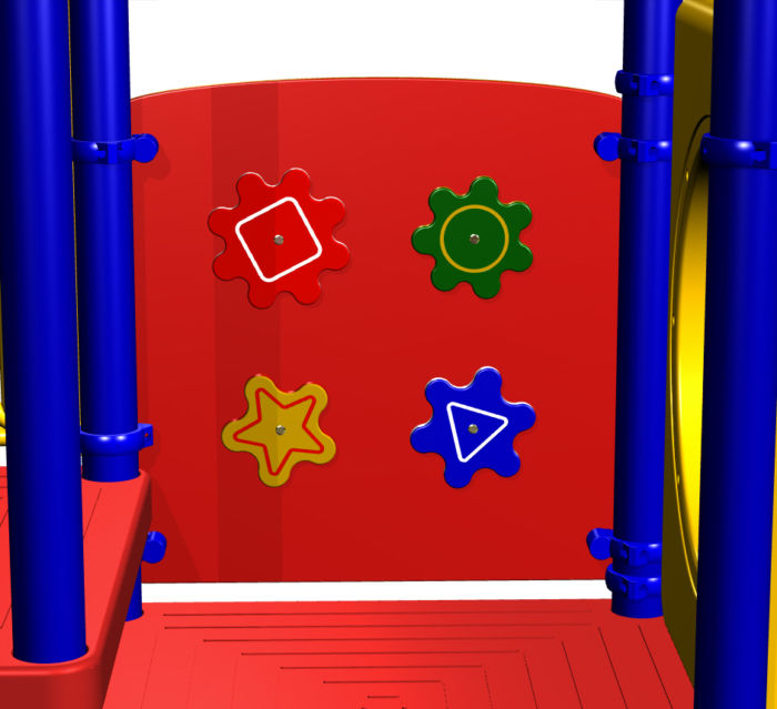 Teddy Bear Playground Spinner Panel