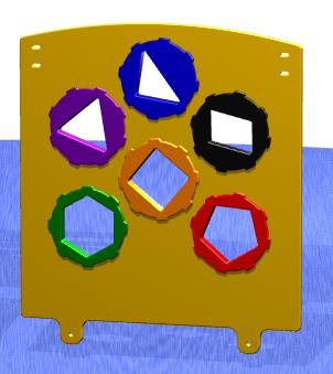 Shapes Spinner Playground Panel