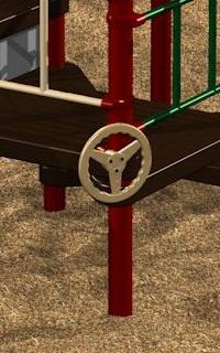 Steering Wheel on a Post