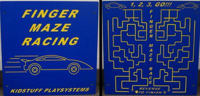 Race Car Finger Maze Playground Panel