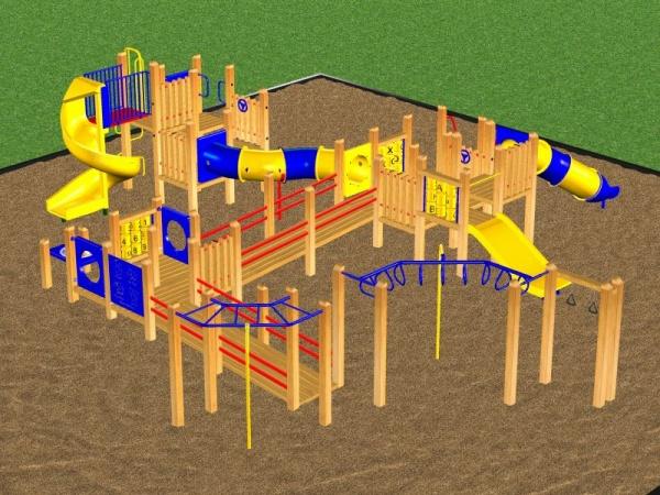 Huge Wooden Playsystem #3596
