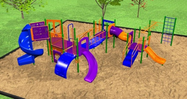 An enormous playground system with an emphasis on fun & fitness