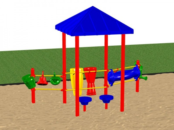 Clubhouse Playground system with various instrument activities for kids