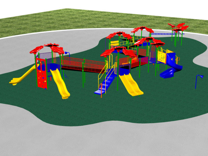 An enormous playground system with hours of fun