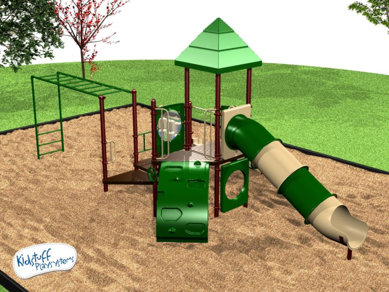 Our grade school playground for ages 2-12 can hold up to 25 children!