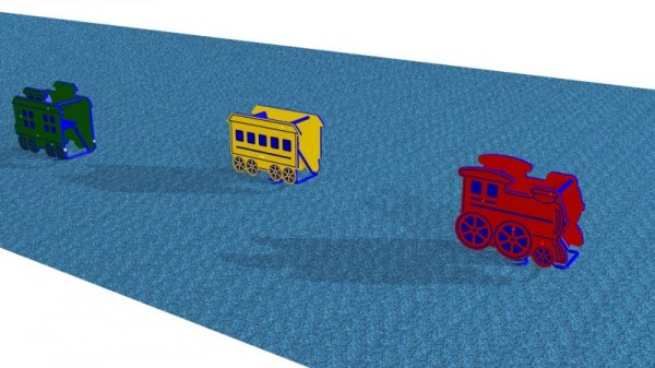 Spring Rider for Kids - Train Car