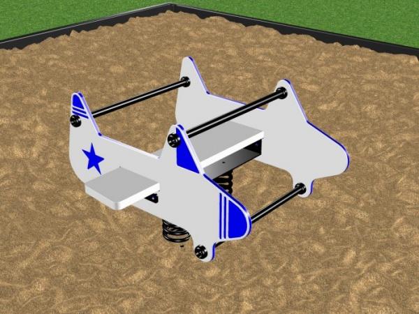 Children's Airplane Spring Rider