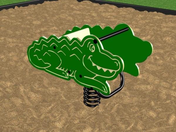 Spring Crocodile Playground Rider