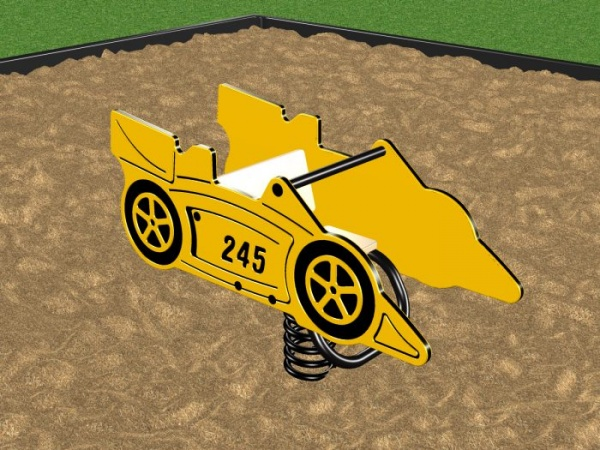 Spring Race Car Playground Rider