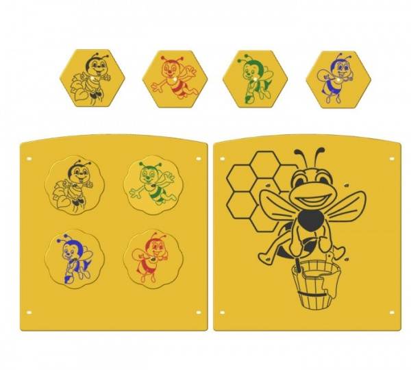 Friendly Bee Spinner Panel