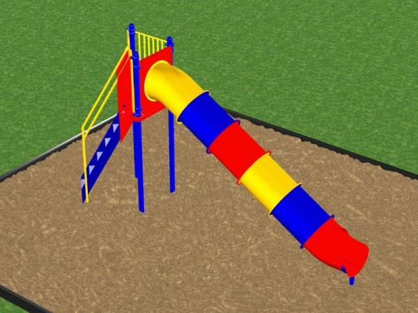 Multicolored Tube Slide