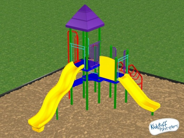 purple and yellow playground