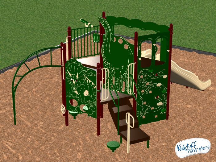 Themed commercial playground equipment