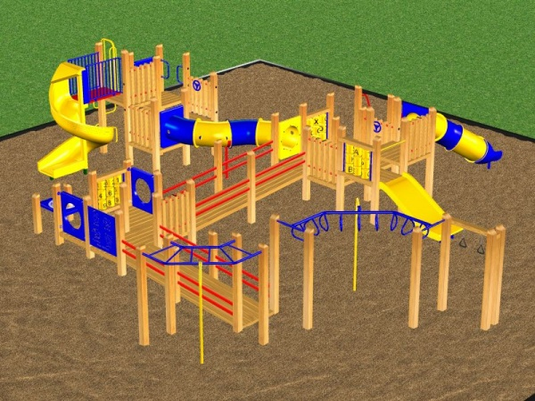 Wooden Commercial Playground Equipment
